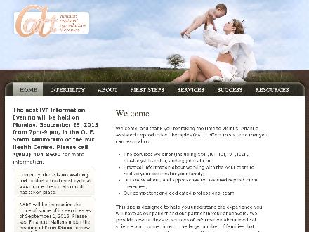 Atlantic Assisted Reproductive Therapy (AART) (902-404-8600) - Onglet de site Web - http://www.aart.ca