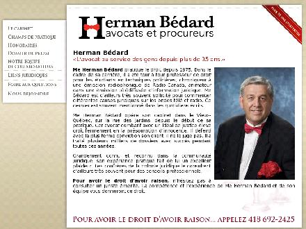 Bédard Herman (418-692-2425) - Website thumbnail - http://www.hermanbedard.com