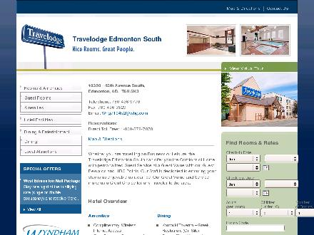 Travelodge Edmonton West (780-483-6031) - Onglet de site Web - http://www.travelodgeedmontonsouth.com/