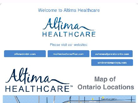 Dazzle Dental (416-335-7664) - Website thumbnail - http://www.altimahealthcare.ca