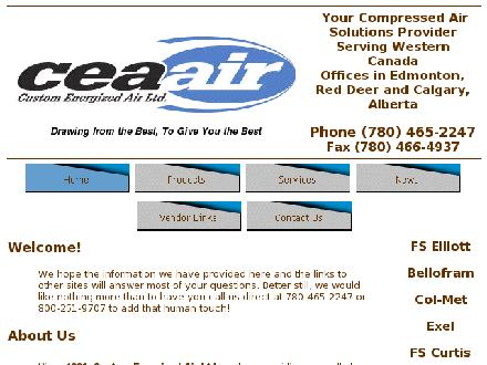 Custom Energized Air Ltd (780-465-2247) - Onglet de site Web - http://www.cea-air.com