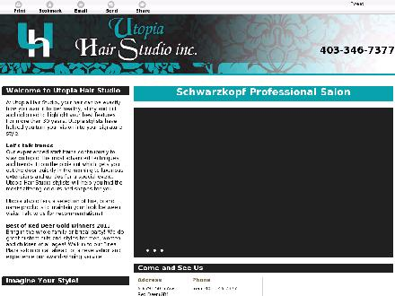 Utopia Hair Studio (403-346-7377) - Website thumbnail - http://utopiahairstudio.ca