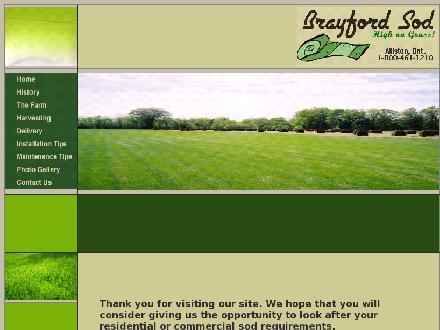 Brayford Sod Farms Inc (1-800-461-1210) - Website thumbnail - http://www.brayfordsod.com