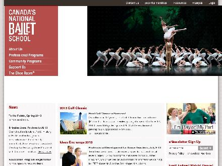 Canada's National Ballet School (416-964-3780) - Website thumbnail - http://www.nbs-enb.ca
