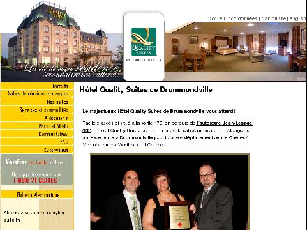 H&ocirc;tel Quality Suites (819-472-2700) - Onglet de site Web - http://www.les-suites.ca