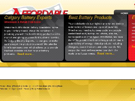 Affordable Battery Specialist (403-214-7717) - Onglet de site Web - http://www.affordablebatteryspecialist.ca