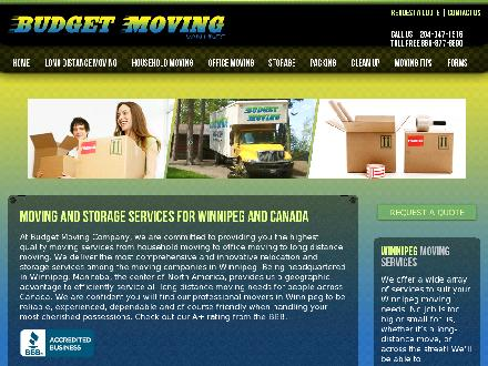 Budget Moving - Onglet de site Web - http://www.budgetmoving.ca
