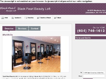 Black Pearl Beauty Loft (604-746-1612) - Onglet de site Web - http://www.blackpearlbeauty.ca