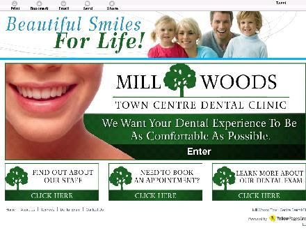 Mill Woods Town Centre Dental Clinic (780-401-9865) - Website thumbnail - http://www.millwoodsdental.com