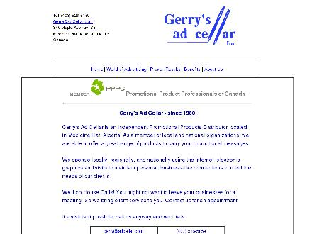 Gerry's Ad Cellar Inc (403-526-5159) - Website thumbnail - http://www.adcellar.com