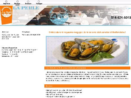 Restaurant La Perle (438-804-4948) - Website thumbnail - http://laperlerestaurant.ca/