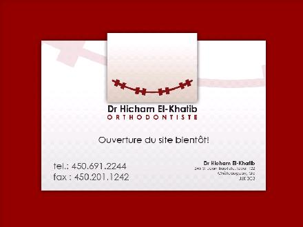 Clinique d'orthodontie Dr Hicham El-Khatib (450-691-2244) - Onglet de site Web - http://www.broches.ca