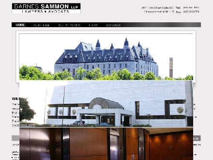 Barnes Sammon LLP (613-594-8000) - Onglet de site Web - http://www.barnessammon.ca/
