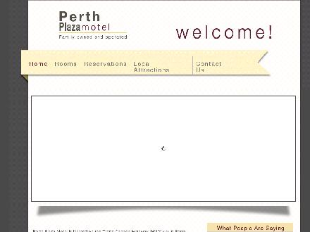 Perth Plaza Motel (613-264-1022) - Website thumbnail - http://www.perthplazamotel.com/