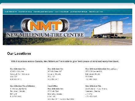 New Millennium Edmonton Tire and Lube (780-485-0026) - Onglet de site Web - http://newmilleniumtire.com/Our_Locations.html