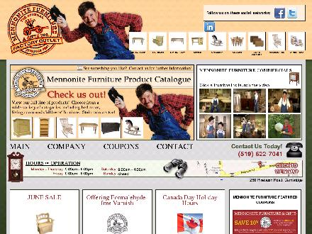 Mennonite Furniture & Gifts Inc (519-622-7041) - Website thumbnail - http://www.mennonitefurniture.on.ca