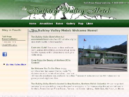 Bulkley Valley Motel (1-888-988-1144) - Website thumbnail - http://www.bvmotel.ca