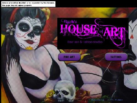 Barb's House Of Art Fine Art & Tattoo Studio (902-539-5077) - Website thumbnail - http://www.barbshouseofart.com
