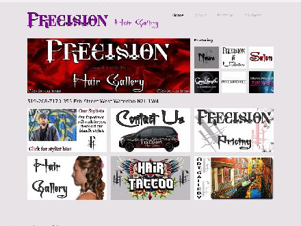 Precision Hair Gallery (519-208-7170) - Website thumbnail - http://www.precisionhairgallery.com