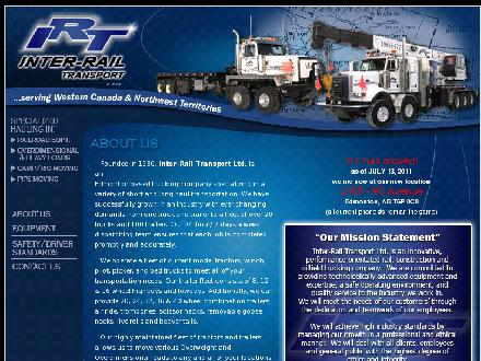 Inter-Rail Transport Ltd (780-464-7046) - Onglet de site Web - http://www.inter-railtransport.com
