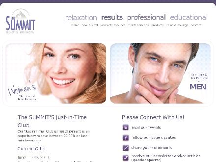 The Summit - Skin Care &amp; Hair Removal (902-423-3888) - Onglet de site Web - http://www.summitspa.ca