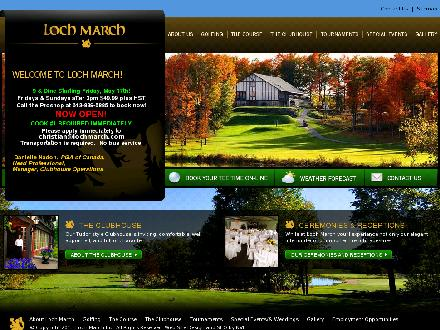 Loch March Golf &amp; Country Club (613-839-5885) - Onglet de site Web - http://www.lochmarch.com