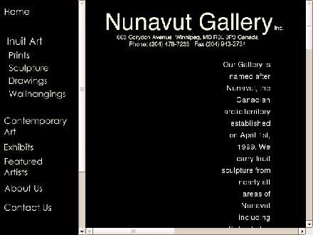 Nunavut Gallery Inc (204-478-7233) - Onglet de site Web - http://www.nunavutgallery.com
