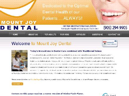 Mount Joy Dental (905-294-9905) - Onglet de site Web - http://www.mountjoydental.com