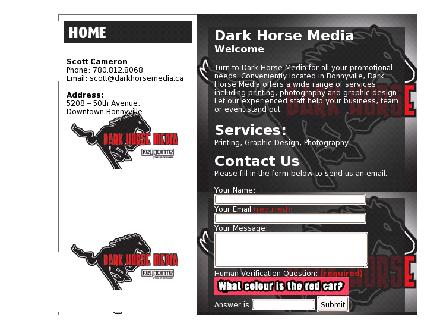 Dark Horse Media (780-826-7772) - Website thumbnail - http://www.darkhorsemedia.ca
