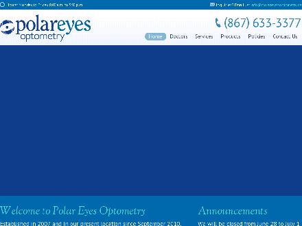 Polar Eyes Optometry (867-633-3377) - Onglet de site Web - http://www.polareyesoptometry.ca