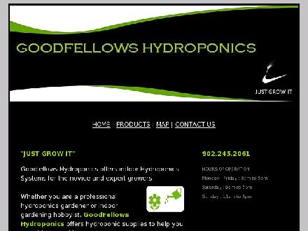 Goodfellows Hydroponics (902-245-2061) - Onglet de site Web - http://www.goodfellowshydroponics.com