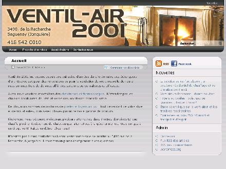Ventil-Air 2001 Inc (418-542-0010) - Onglet de site Web - http://www.ventil-air2001.com