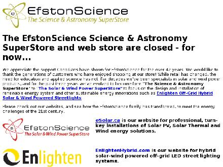 Efstonscience Inc (416-787-4581) - Website thumbnail - http://www.escience.ca