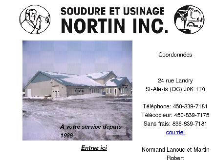Soudure et Usinage Nortin Inc (450-839-7181) - Onglet de site Web - http://www.nortin.ca