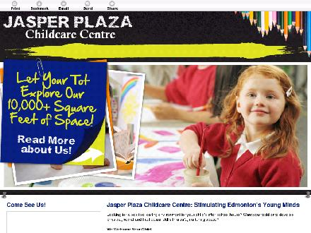 Jasper Plaza Childcare Centre (780-484-1112) - Website thumbnail - http://jasperplazachildcare.ca/