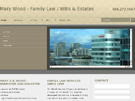 Wood Mary E B (604-273-5547) - Website thumbnail - http://marywoodlawyer.ca
