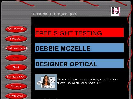 Debbie Mozelle Optical (604-532-1158) - Website thumbnail - http://www.debbiemozelle.com