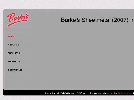 Burke's Sheet Metal 2007 Inc (613-224-3501) - Website thumbnail - http://www.burkessheetmetal.ca