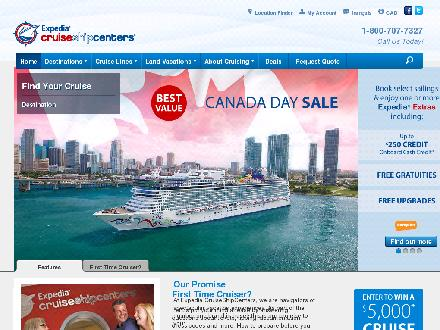 Expedia Cruise Ship Centers (204-224-7447) - Onglet de site Web - http://www.cruiseshipcenters.ca
