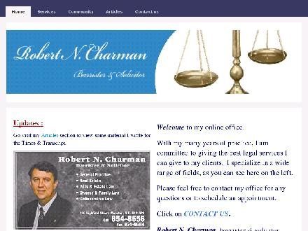 Charman Robert N (506-854-8656) - Website thumbnail - http://www.robertncharman.com