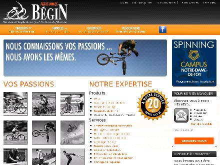 Performance Bégin (418-877-4018) - Onglet de site Web - http://www.performancebegin.com