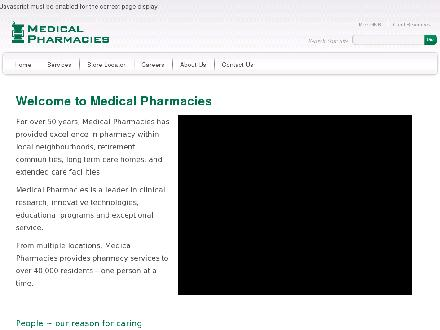 Medical Pharmacy (905-820-2100) - Onglet de site Web - http://www.medicalpharmacies.com
