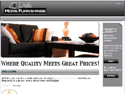 Dals Home Furnishings (519-900-4543) - Website thumbnail - http://www.dalshomefurnishings.ca