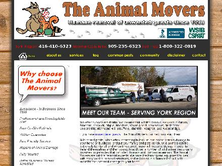 Animal Movers The (416-410-6323) - Onglet de site Web - http://www.theanimalmovers.ca