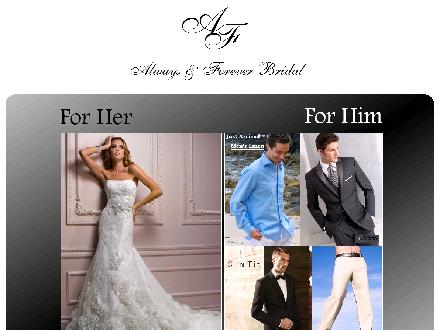 Always & Forever Bridal (902-462-5450) - Onglet de site Web - http://www.always-and-forever.ca