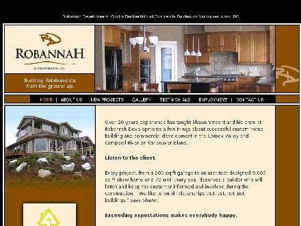 Robannah Developments Ltd (250-898-8824) - Website thumbnail - http://www.robannah.com