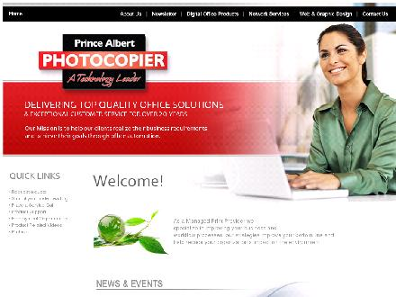 Prince Albert Photocopier Ltd (306-763-3000) - Onglet de site Web - http://www.digitalcopiers.ca