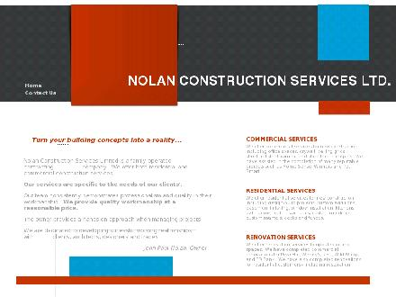 Nolan Construction Services Ltd (416-654-6060) - Onglet de site Web - http://www.nolanconstruction.ca