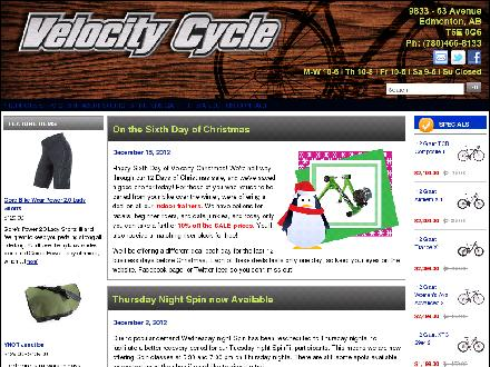 Velocity Cycle (780-466-8133) - Website thumbnail - http://www.velocity-cycle.com