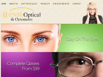 Bense Optical & Optometry (709-754-1250) - Website thumbnail - http://www.benseoptical.com